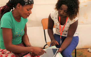 HIV Research assistants use smart technology to data capture